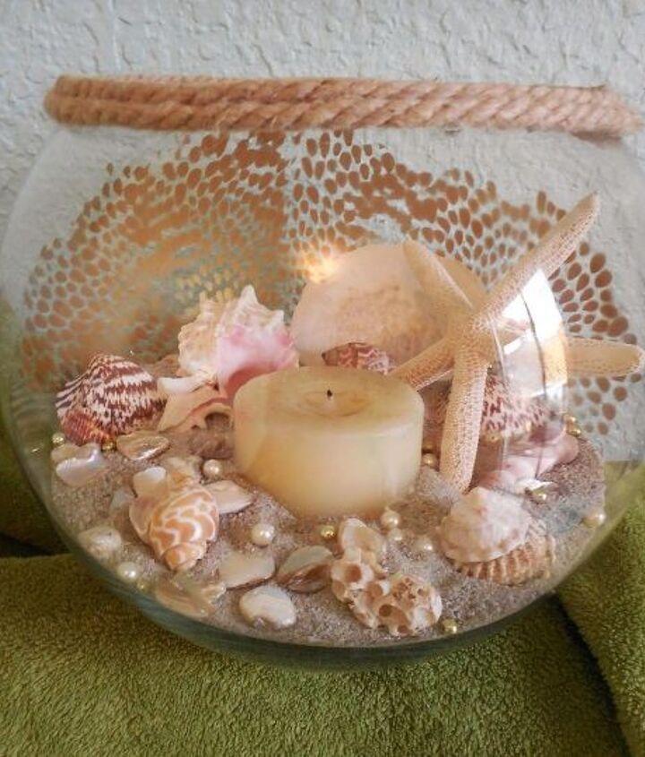 sea shell centerpiece, crafts
