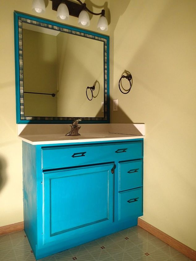 Frame A Mirror With Moulding And Tiles Bathroom Ideas Chalk Paint Diy