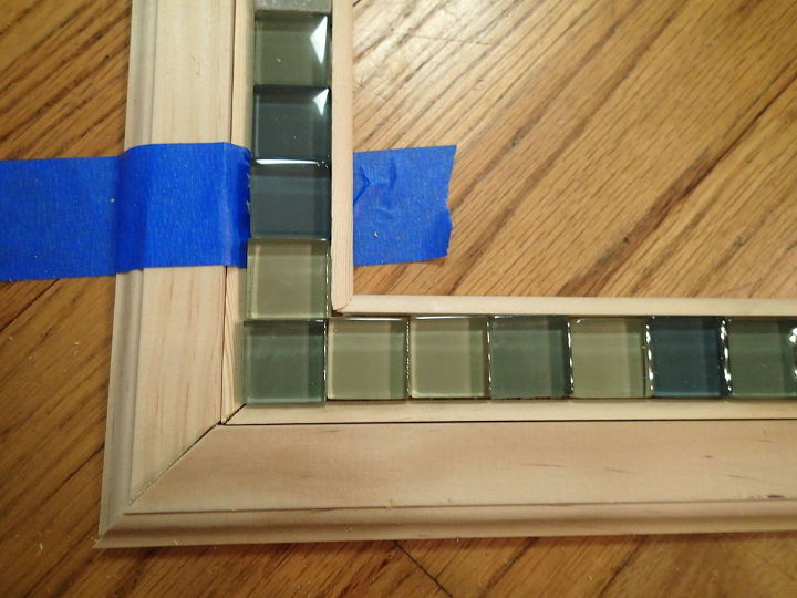 Frame a mirror with moulding and tiles hometalk frame a mirror with moulding and tiles bathroom ideas chalk paint diy solutioingenieria Images