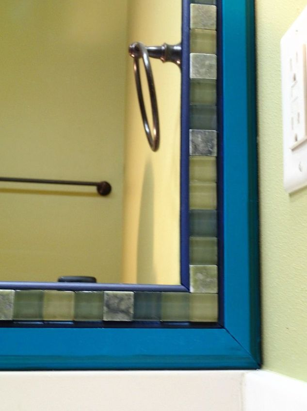 Frame a Mirror With Moulding and Tiles | Hometalk