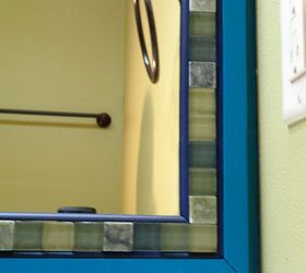 Frame A Mirror With Moulding And Tiles, Bathroom Ideas, Chalk Paint, Diy,