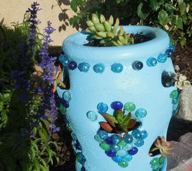 strawberry pot makeover crafts gardening repurposing upcycling