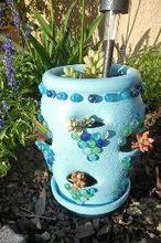 strawberry pot makeover, crafts, gardening, repurposing upcycling