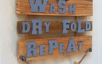 Wooden Laundry Sign.