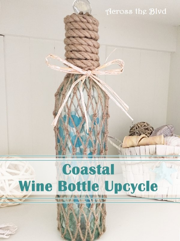 coastal wine bottle upcycle, crafts, how to