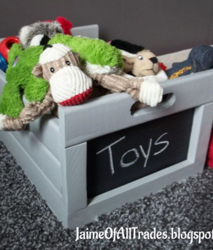 diy simple chalkboard crate, chalkboard paint, crafts, diy, organizing, woodworking projects
