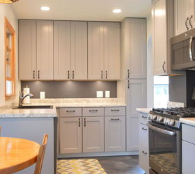kitchen remodel with gray cabinets home improvement