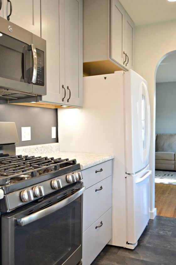 kitchen remodel with gray cabinets, home improvement, kitchen cabinets, kitchen design, painting