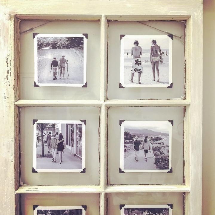 an upcycled window frame makes a great frame repurposing upcycling wall decor window - Window Frame Decor