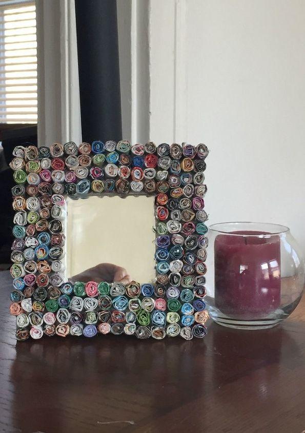 magazine 3 d mirror, crafts, wall decor
