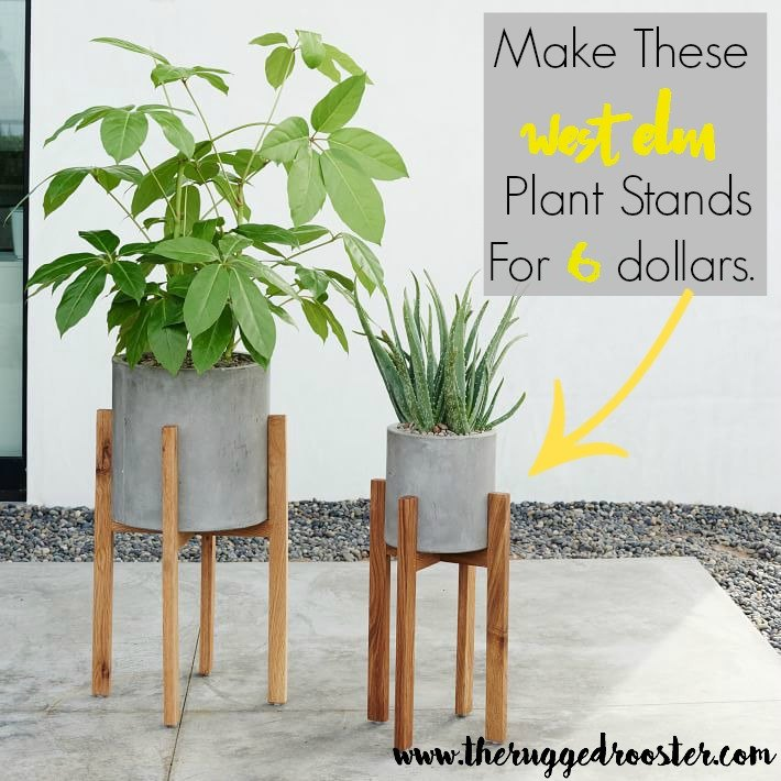 West Elm Inspired DIY Plant Stands Hometalk