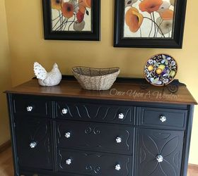 Depression Buffet Makeover Decoupage Diy Home Decor Painted Furniture