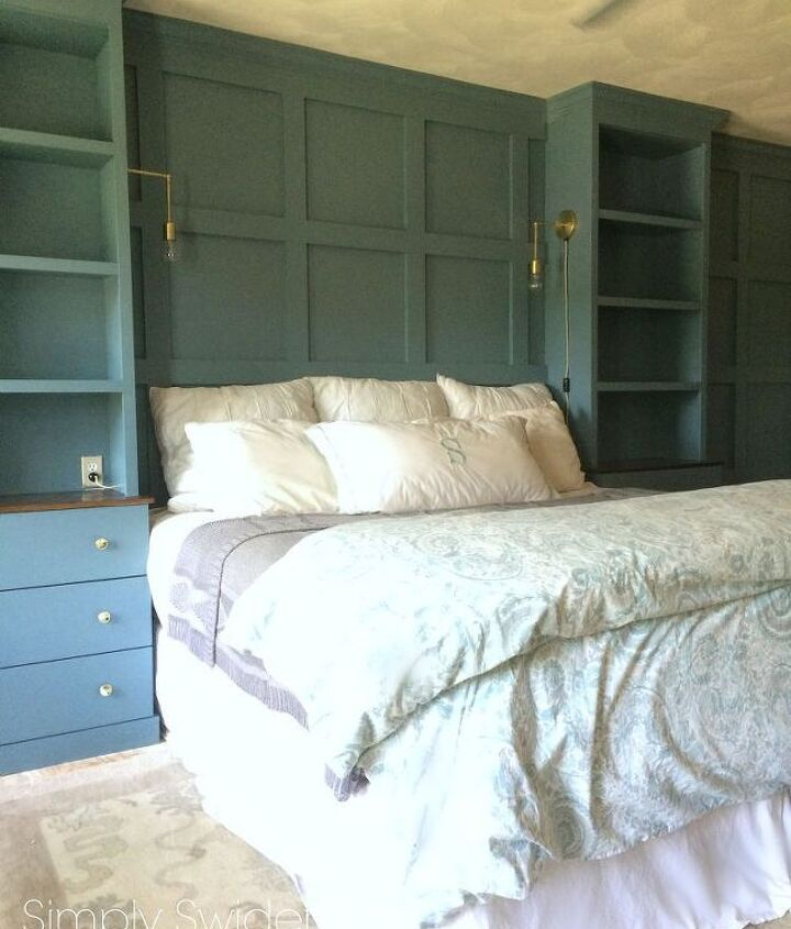 diy master bedroom built ins, bedroom ideas, storage ideas, woodworking projects
