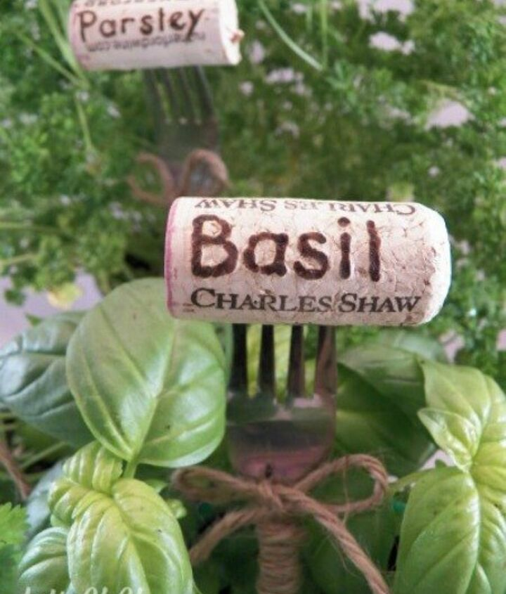 s 12 adorable plant markers from your junk drawer, gardening, repurposing upcycling, Gather up that haphazard cork collection