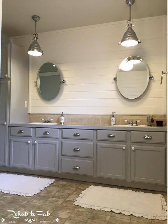 my master bath got a shiplap transformation , bathroom ideas, diy,  painting, wall