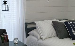 boys bedroom remodel with plank wall, bedroom ideas, diy, painting, wall decor