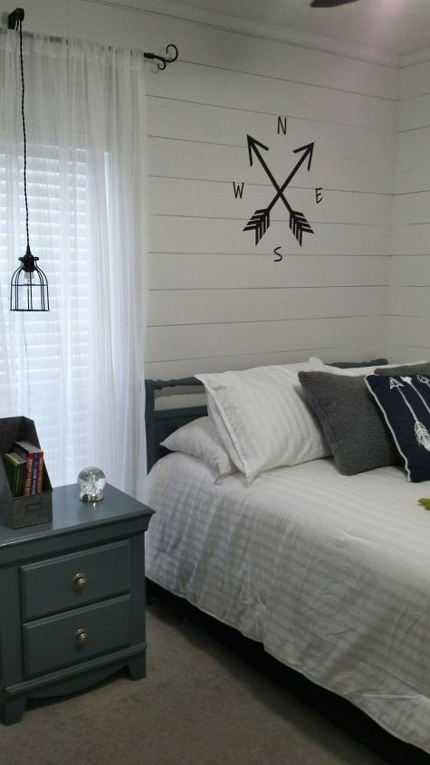 Boys Bedroom Remodel With Plank Wall | Hometalk