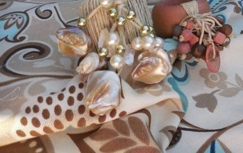 shell napkin rings, crafts, how to