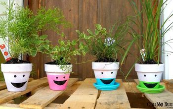 Silly Painted Terra Cotta Pots