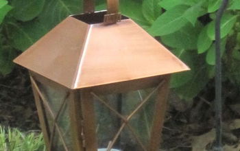 Repurposed Copper Lanterns-Outdoor Decor on a Budget