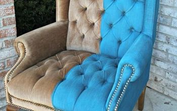 How to Paint Crushed VELVET Fabric on Your Furniture