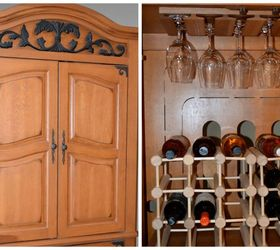 Turn An Old Tv Armoire Into A Wine Cabinet, Repurposing Upcycling, Storage  Ideas