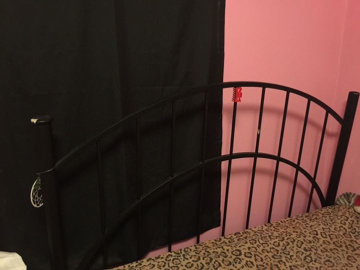 q metal headboard, painted furniture, painting over finishes, repurpose furniture, repurposing upcycling