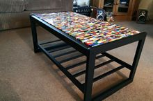lego table, crafts, painted furniture