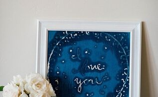 shibori and batik inspired i love you for mom, crafts, how to, reupholster