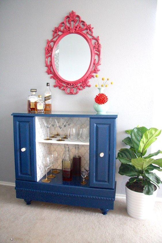 diy upcycled bar cart, entertainment rec rooms, painted furniture, repurposing upcycling