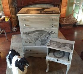 Chest Of Drawers Turned Into Piece Of Equestrian Art Using Stain, Painted  Furniture, Rustic