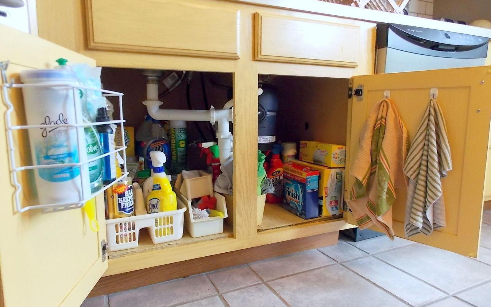 Under Kitchen Sink Cabinet under kitchen sink storage ideas