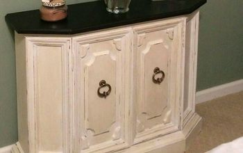 console cabinet goes from drab to fab in one evening , chalk paint, painted furniture