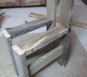 Mom And Her Pallet Wood Chair Diy, Diy, Outdoor Furniture, Pallet, Rustic