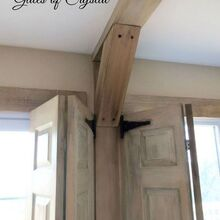 s 17 impossibly creative ceiling ideas that will transform any room, painting, wall decor, Add faux support beams by building wood boxes