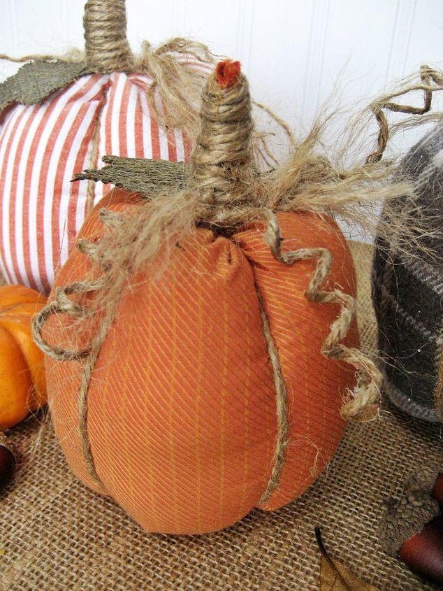 easy no sew shirt pumpkins, crafts, repurposing upcycling, seasonal holiday decor