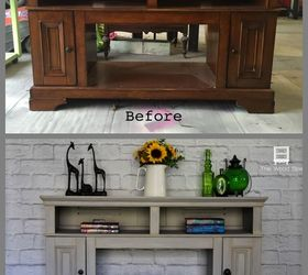 Pressed Wood Fireplace From Cheap To Chic, Fireplaces Mantels, How To,  Painted Furniture