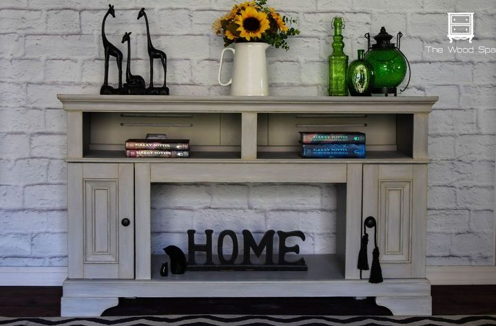 pressed wood fireplace from cheap to chic, fireplaces mantels, how to, painted furniture, shabby chic