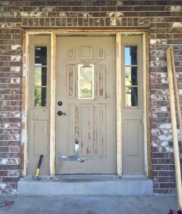how to update your build grade door, curb appeal, diy, doors, home improvement, how to, painting