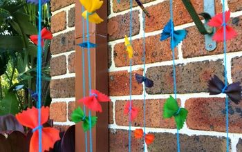 diy rainbow pasta mobile, crafts, how to