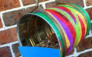 recycled tin birdfeeder, animals, crafts, how to, outdoor living, pets animals, repurposing upcycling