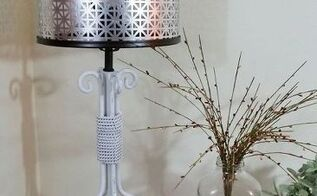 lamp re vamp and diy metal shade, crafts, how to, lighting