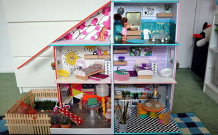 upcycled dolls house, crafts, diy, repurposing upcycling