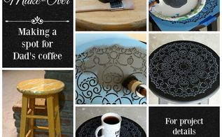 diy old stool maker over creating a place for dad s coffee, chalk paint, how to, painted furniture