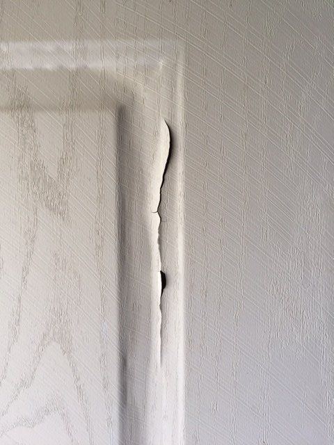 q metal door with cracking finish, doors, home maintenance repairs, painting