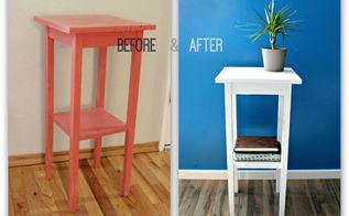 street salvage side table, painted furniture