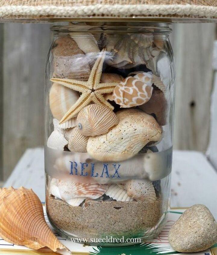 diy seashell lamp, crafts, lighting, seasonal holiday decor