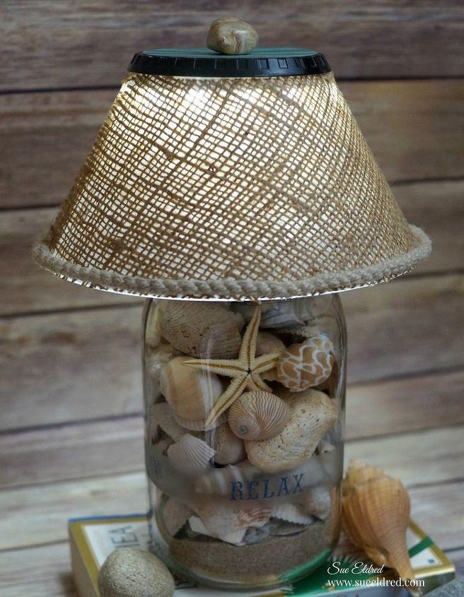 Wonderful DIY Seashell Lamp | Hometalk FH87