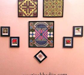 How To Decorate Craft Room Wall With Wooden Tiles, Crafts, How To, Tiling