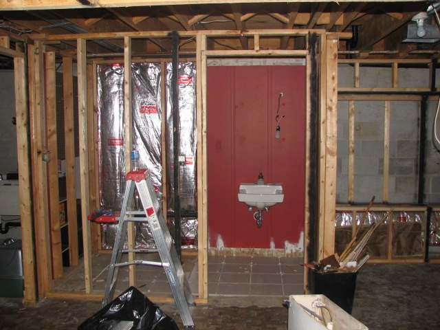 basement progress installing mosaic subway tile backsplash, basement ideas, diy, home improvement, kitchen backsplash, kitchen design, tiling